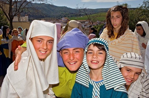 Actors  Live Holy week ´pasión´ at Riogordo  Málaga province  Andalucia  Spain : Stock Photo