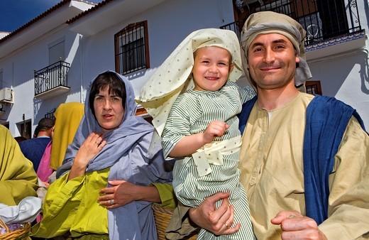 Stock Photo: 1566-766237 Actors  Live Holy week ´pasión´ at Riogordo  Málaga province  Andalucia  Spain