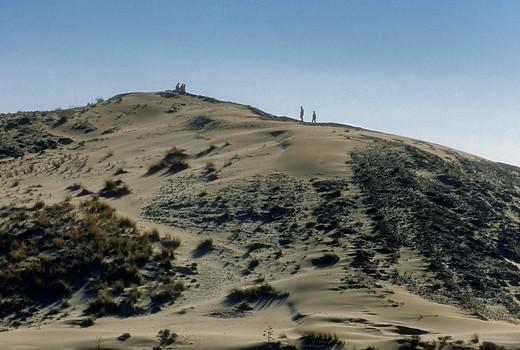 'Duna rampante de Mónsul' Rampant dune of Mónsul Cabo de Gata-Nijar Natural Park  Biosphere Reserve, Almeria province, Andalucia, Spain : Stock Photo