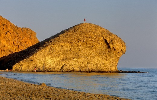 Mónsul beach Cabo de Gata-Nijar Natural Park  Biosphere Reserve, Almeria province, Andalucia, Spain : Stock Photo