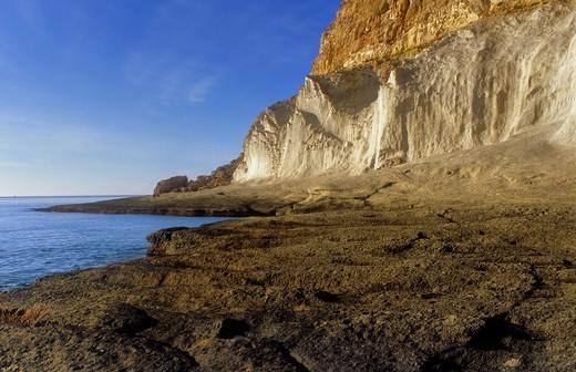 'Cala de Enmedio' Beach near Agua amarga  Cabo de Gata-Nijar Natural Park  Biosphere Reserve, Almeria province, Andalucia, Spain : Stock Photo