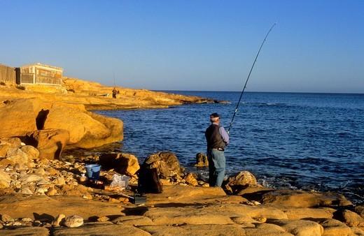 Stock Photo: 1566-766564 Fishermen in 'El Playazo' Cabo de Gata-Nijar Natural Park  Biosphere Reserve, Almeria province, Andalucia, Spain