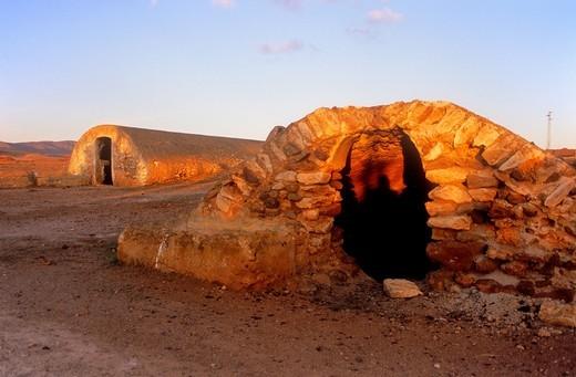 Stock Photo: 1566-766570 Old cisterns Near Los Alnbaricoques Cabo de Gata-Nijar Natural Park  Biosphere Reserve, Almeria province, Andalucia, Spain