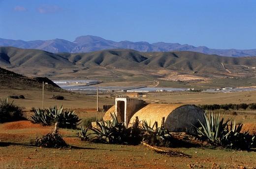 Stock Photo: 1566-766571 Cistern Near Los Albaricoques  Cabo de Gata-Nijar Natural Park  Biosphere Reserve, Almeria province, Andalucia, Spain