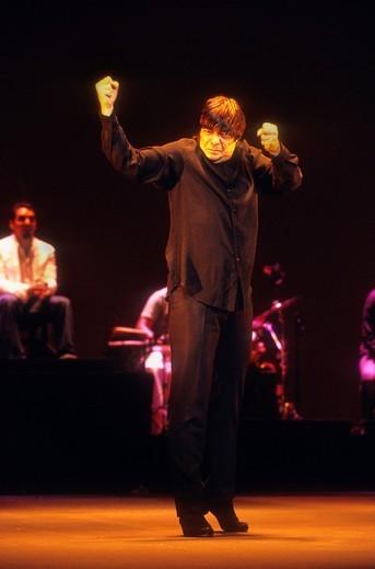 'Antonio Canales' Antonio González de los Reyes  Flamenco dancer  La Maestranza theatre  Seville, Andalusia, Spain : Stock Photo