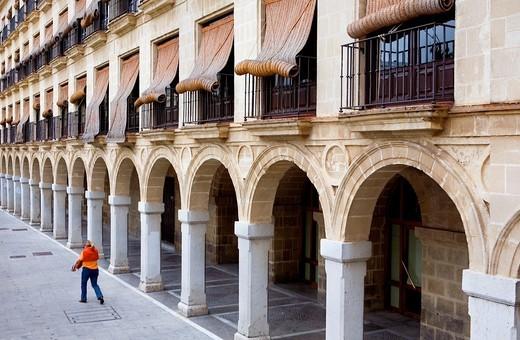 Plaza del Arenal in the historic center of Jerez de la Frontera  Cádiz province  Spain : Stock Photo
