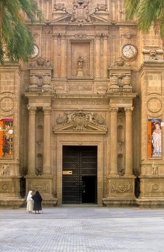 Stock Photo: 1566-766639 The cathedral  Door of 'los perdones' Almería  Andalucia  Spain