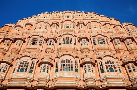 Hawa Mahal Palace of Winds  Jaipur  Rajasthan, India : Stock Photo