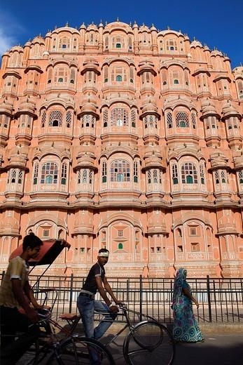 Stock Photo: 1566-766661 Hawa Mahal Palace of Winds  Jaipur  Rajasthan, India
