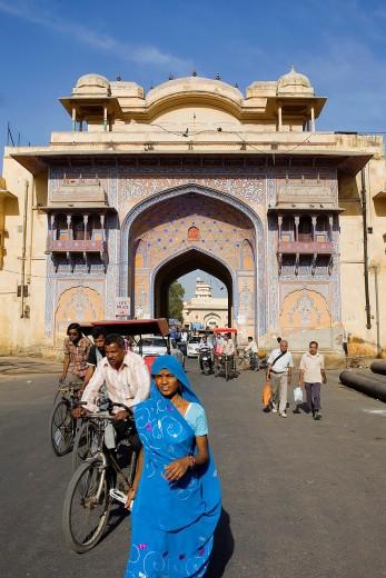 Stock Photo: 1566-766662 ´Nakka Khana´ gate  Jaipur  India