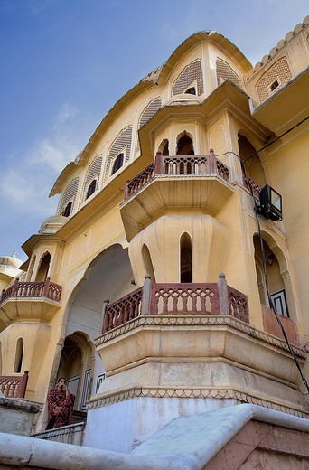 Visitor entry, of Hawa Mahal Palace of Winds  Jaipur  Rajasthan, India : Stock Photo
