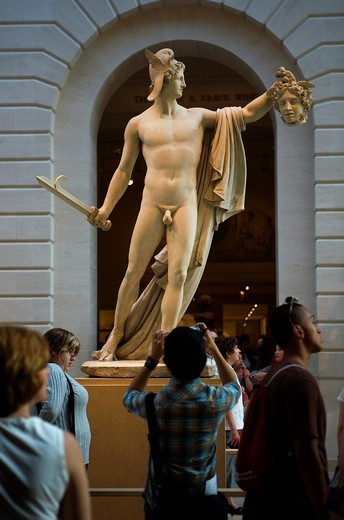 The MET, Metropolitan Museum of Art  Perseus whith the head of medusa  By Antonio Canova 1804,New York City, USA : Stock Photo