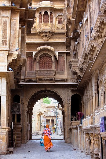Stock Photo: 1566-766915 Patwa ki haveli,Jaisalmer, Rajasthan, India