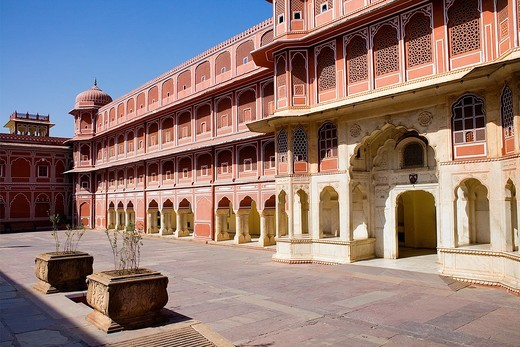 Diwan-i-Khas Hall of private Hearing,City Palace,Jaipur, Rajasthan, India : Stock Photo