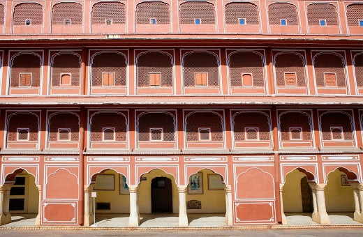 Detail of Diwan-i-Khas Hall of private Hearing,City Palace,Jaipur, Rajasthan, India : Stock Photo
