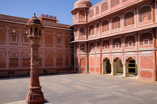 Stock Photo: 1566-766949 Diwan-i-Khas Hall of private Hearing,City Palace,Jaipur, Rajasthan, India