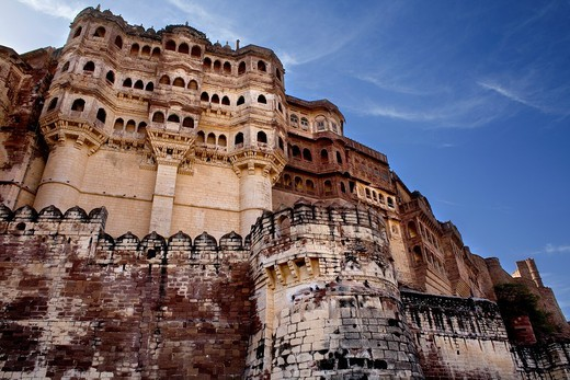 Stock Photo: 1566-766994 Mehrangarh Fort,a north west view,Jodhpur, Rajasthan, India