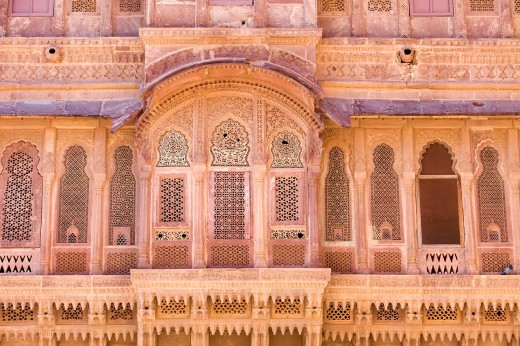 Stock Photo: 1566-766999 Mehrangarh Fort, exterior details inside of the fort,Jodhpur, Rajasthan, India