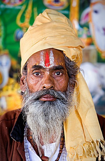 Stock Photo: 1566-767040 Sadhu holy man,near Brahma temple,pushkar, rajasthan, india