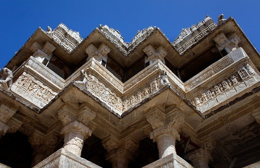 Detail, exterior wall of the Jagdish Temple,Udaipur, Rajasthan, india : Stock Photo