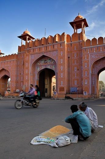Ajmeri Gate  Jaipur  Rajasthan,India : Stock Photo