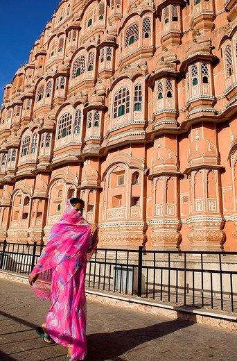 Hawa Mahal Palace of Winds  Jaipur  Rajasthan, India : Stock Photo