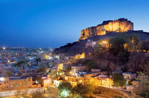 Stock Photo: 1566-767129 Mehrangarh Fort,Jodhpur, Rajasthan, India