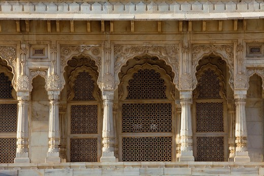 Detail of Jaswant Thada, 1899, Memorial to Maharaja Jaswant Singh II,Jodhpur, Rajasthan, India : Stock Photo