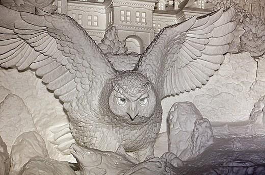 Sapporo snow festival, snow sculpture,Odori Park,Sapporo, Hokkaido, Japan : Stock Photo