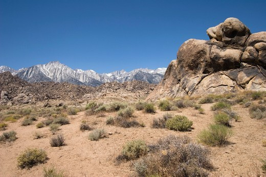 Alabama Hills near Lone Pine in the Owens Valley, California : Stock Photo