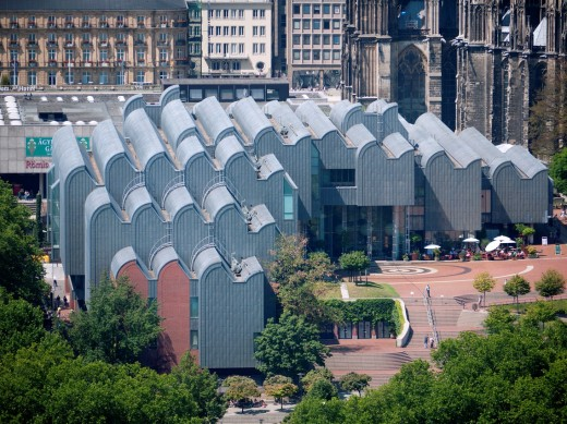 View of Museum Ludwig in Cologne Germany : Stock Photo