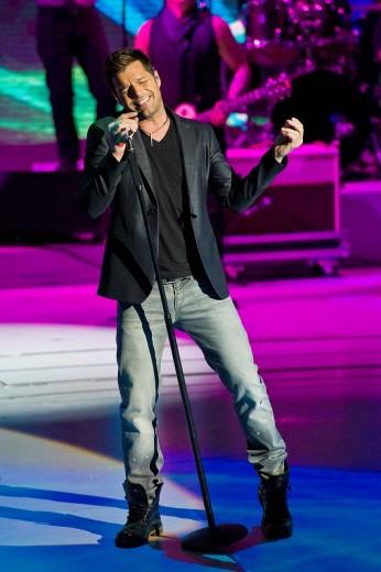 26 02 2011, ´Che tempo che fa´ telecast RAI 3, Milan  Ricky Martin : Stock Photo