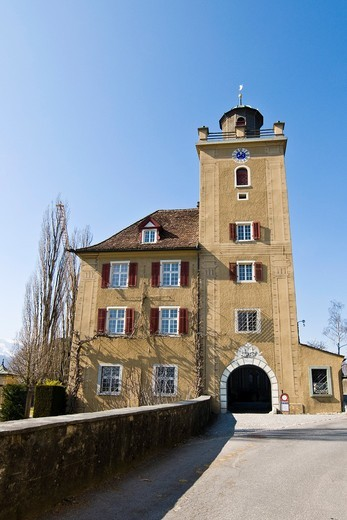 Salenegg winery, Maienfeld, Switzerland : Stock Photo