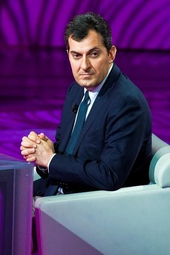 29 05 2011  Milan  Telecast ´Che tempo che fa´  Mario Calabresi : Stock Photo