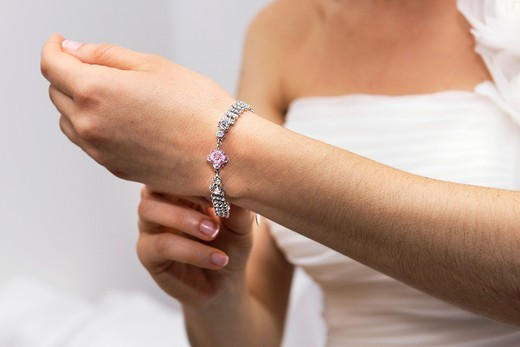 Stock Photo: 1566-769814 Just married, jewelry