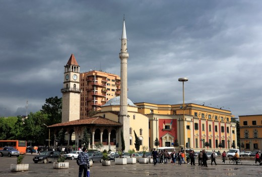 Skanderbeg square, Tirana Tirane, Albania : Stock Photo