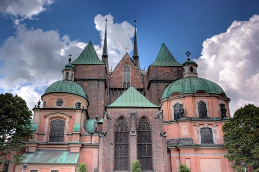 Cathedral of St  John the Baptist, Ostrow Tumski, Wroclaw, Lower Silesia, Poland : Stock Photo