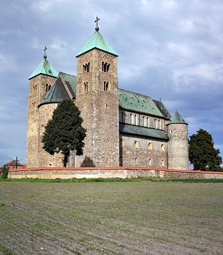 Stock Photo: 1566-770802 Romanesque collegiate church 1160s, Tum, Lodz Voivodeship, Poland