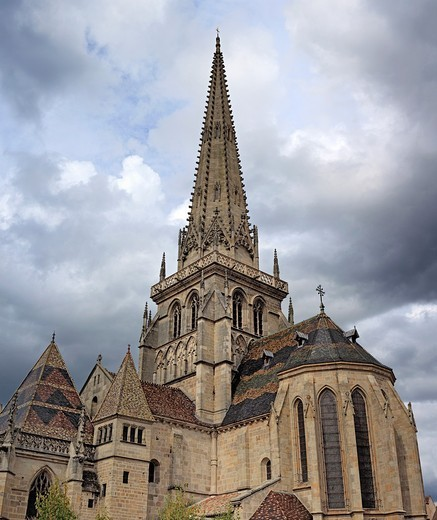 Stock Photo: 1566-770826 Autun Cathedral, Autun, Saone-et-Loire department, Burgundy, France