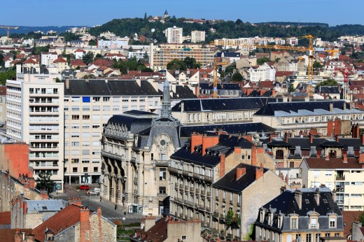 Stock Photo: 1566-771040 View of city from Philippe le Bon Tower, Dijon, Côte-d´Or departement, Burgundy, France