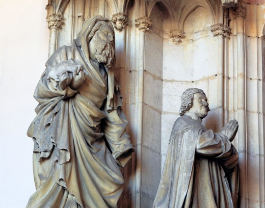 Stock Photo: 1566-771052 Portal of monastery church in Chartreuse de Champmol with sculpture by Claus Sluter, Côte-d´Or departement, Burgundy, France