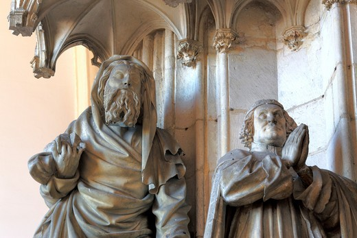 Stock Photo: 1566-771054 Portal of monastery church in Chartreuse de Champmol with sculpture by Claus Sluter, Côte-d´Or departement, Burgundy, France