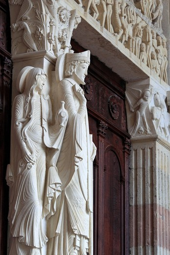 Stock Photo: 1566-771059 Portal of Autun Cathedral, Autun, Saone-et-Loire department, Burgundy, France