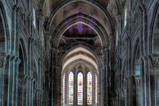 Autun Cathedral, Autun, Saone-et-Loire department, Burgundy, France : Stock Photo