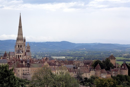 Stock Photo: 1566-771076 Autun Cathedral, Autun, Saone-et-Loire department, Burgundy, France