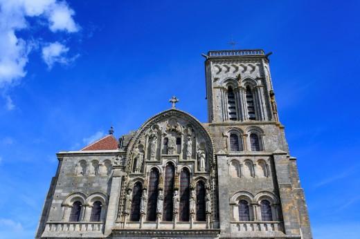 Stock Photo: 1566-771130 Church Sainte Marie Madeleine Basilica of St  Magdalene, Vezelay, Yonne department, Burgundy, France