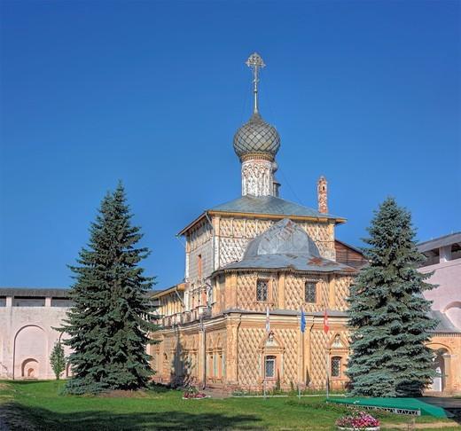 Church of Holy Virgin Hodegetria 1693, Rostov, Yaroslavl region, Russia : Stock Photo