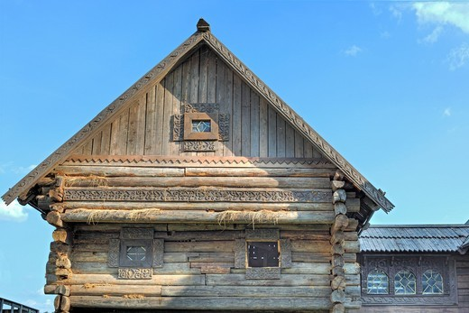 Wooden traditional house, Rostov, Yaroslavl region, Russia : Stock Photo