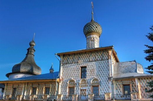 Stock Photo: 1566-771237 Church of Holy Virgin Hodegetria 1693, Rostov, Yaroslavl region, Russia