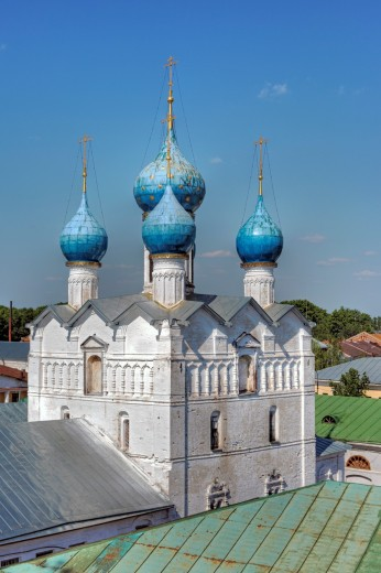 Church of Saviour on market square 1690, Rostov, Yaroslavl region, Russia : Stock Photo